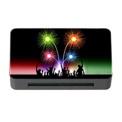 Happy New Year 2017 Celebration Animated 3d Memory Card Reader With Cf
