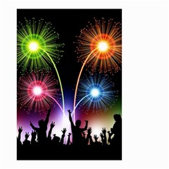 Happy New Year 2017 Celebration Animated 3d Small Garden Flag (two Sides)