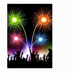 Happy New Year 2017 Celebration Animated 3d Large Garden Flag (two Sides)