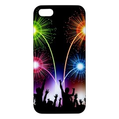 Happy New Year 2017 Celebration Animated 3d Apple Iphone 5 Premium Hardshell Case