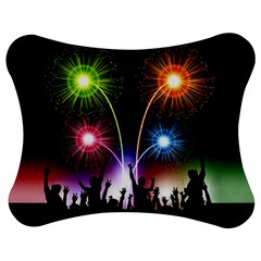Happy New Year 2017 Celebration Animated 3d Jigsaw Puzzle Photo Stand (Bow)