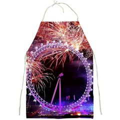 Happy New Year Clock Time Fireworks Pictures Full Print Aprons