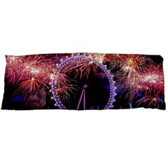 Happy New Year Clock Time Fireworks Pictures Body Pillow Case Dakimakura (two Sides)