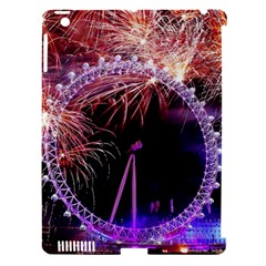 Happy New Year Clock Time Fireworks Pictures Apple Ipad 3/4 Hardshell Case (compatible With Smart Cover)