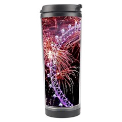 Happy New Year Clock Time Fireworks Pictures Travel Tumbler