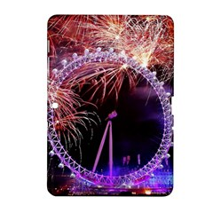 Happy New Year Clock Time Fireworks Pictures Samsung Galaxy Tab 2 (10 1 ) P5100 Hardshell Case