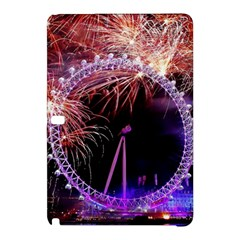 Happy New Year Clock Time Fireworks Pictures Samsung Galaxy Tab Pro 10 1 Hardshell Case