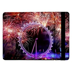 Happy New Year Clock Time Fireworks Pictures Samsung Galaxy Tab Pro 12 2  Flip Case