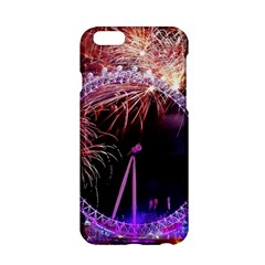 Happy New Year Clock Time Fireworks Pictures Apple Iphone 6/6s Hardshell Case