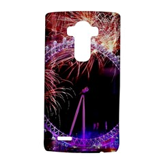 Happy New Year Clock Time Fireworks Pictures LG G4 Hardshell Case