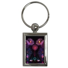 Happy New Year New Years Eve Fireworks In Australia Key Chains (rectangle)