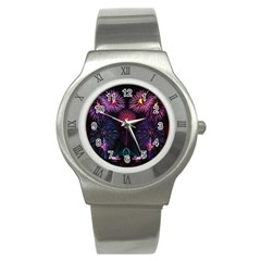 Happy New Year New Years Eve Fireworks In Australia Stainless Steel Watch