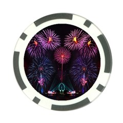 Happy New Year New Years Eve Fireworks In Australia Poker Chip Card Guard (10 Pack)