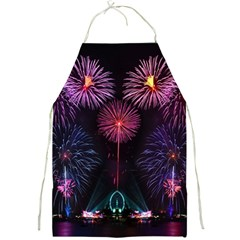 Happy New Year New Years Eve Fireworks In Australia Full Print Aprons