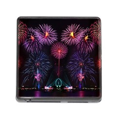 Happy New Year New Years Eve Fireworks In Australia Memory Card Reader (square)