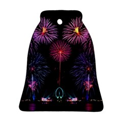 Happy New Year New Years Eve Fireworks In Australia Bell Ornament (two Sides)