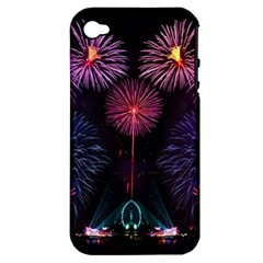Happy New Year New Years Eve Fireworks In Australia Apple Iphone 4/4s Hardshell Case (pc+silicone)