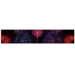 Happy New Year New Years Eve Fireworks In Australia Flano Scarf (large)