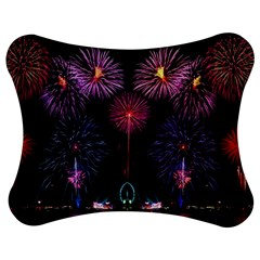 Happy New Year New Years Eve Fireworks In Australia Jigsaw Puzzle Photo Stand (Bow)