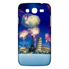Happy New Year Celebration Of The New Year Landmarks Of The Most Famous Cities Around The World Fire Samsung Galaxy Mega 5 8 I9152 Hardshell Case
