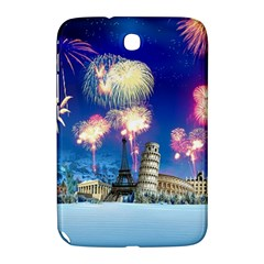 Happy New Year Celebration Of The New Year Landmarks Of The Most Famous Cities Around The World Fire Samsung Galaxy Note 8 0 N5100 Hardshell Case