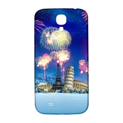 Happy New Year Celebration Of The New Year Landmarks Of The Most Famous Cities Around The World Fire Samsung Galaxy S4 I9500/i9505  Hardshell Back Case