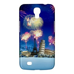 Happy New Year Celebration Of The New Year Landmarks Of The Most Famous Cities Around The World Fire Samsung Galaxy Mega 6 3  I9200 Hardshell Case