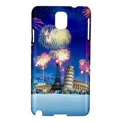 Happy New Year Celebration Of The New Year Landmarks Of The Most Famous Cities Around The World Fire Samsung Galaxy Note 3 N9005 Hardshell Case