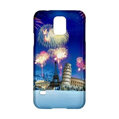 Happy New Year Celebration Of The New Year Landmarks Of The Most Famous Cities Around The World Fire Samsung Galaxy S5 Hardshell Case