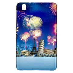 Happy New Year Celebration Of The New Year Landmarks Of The Most Famous Cities Around The World Fire Samsung Galaxy Tab Pro 8 4 Hardshell Case
