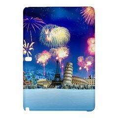 Happy New Year Celebration Of The New Year Landmarks Of The Most Famous Cities Around The World Fire Samsung Galaxy Tab Pro 12 2 Hardshell Case