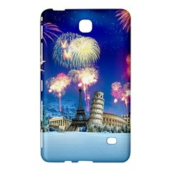 Happy New Year Celebration Of The New Year Landmarks Of The Most Famous Cities Around The World Fire Samsung Galaxy Tab 4 (7 ) Hardshell Case
