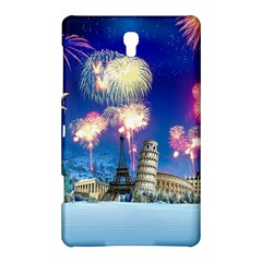 Happy New Year Celebration Of The New Year Landmarks Of The Most Famous Cities Around The World Fire Samsung Galaxy Tab S (8 4 ) Hardshell Case