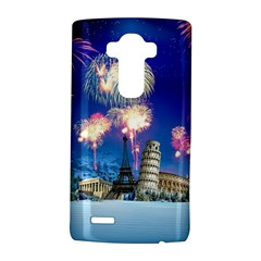Happy New Year Celebration Of The New Year Landmarks Of The Most Famous Cities Around The World Fire LG G4 Hardshell Case