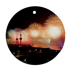 Kuwait Liberation Day National Day Fireworks Ornament (round)