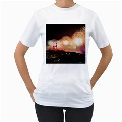 Kuwait Liberation Day National Day Fireworks Women s T Shirt (white) (two Sided)