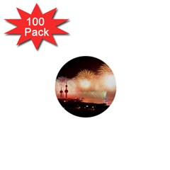 Kuwait Liberation Day National Day Fireworks 1  Mini Buttons (100 Pack)