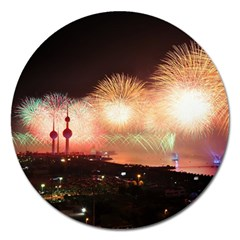 Kuwait Liberation Day National Day Fireworks Magnet 5  (round)