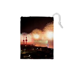 Kuwait Liberation Day National Day Fireworks Drawstring Pouches (small)