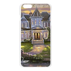Landscape House River Bridge Swans Art Background Apple Seamless iPhone 6 Plus/6S Plus Case (Transparent)