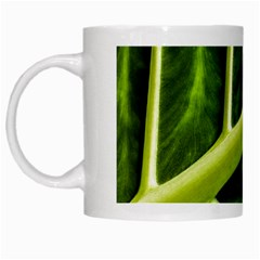 Leaf Dark Green White Mugs