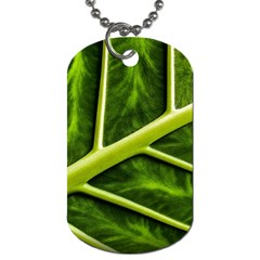 Leaf Dark Green Dog Tag (two Sides)