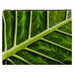 Leaf Dark Green Cosmetic Bag (xxxl)