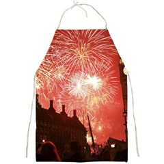 London Celebration New Years Eve Big Ben Clock Fireworks Full Print Aprons