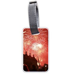 London Celebration New Years Eve Big Ben Clock Fireworks Luggage Tags (two Sides)