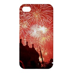 London Celebration New Years Eve Big Ben Clock Fireworks Apple Iphone 4/4s Hardshell Case