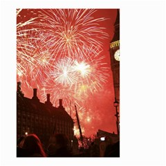 London Celebration New Years Eve Big Ben Clock Fireworks Small Garden Flag (two Sides)