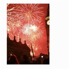 London Celebration New Years Eve Big Ben Clock Fireworks Large Garden Flag (two Sides)