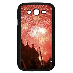 London Celebration New Years Eve Big Ben Clock Fireworks Samsung Galaxy Grand Duos I9082 Case (black)