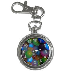 Multicolored Patterned Spheres 3d Key Chain Watches